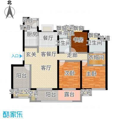 中新翠湖B户型3室1厅2卫1厨-副本