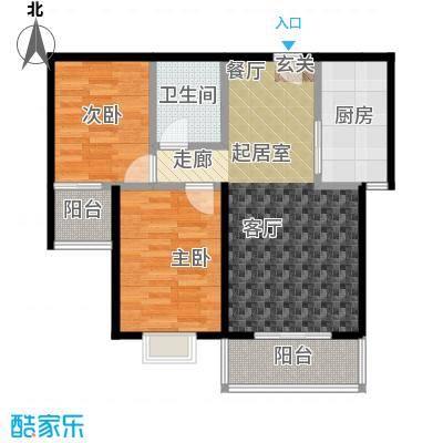 红日景园红日景园 户型图2室2厅1卫 88.88 m²户型2室2厅1卫-副本