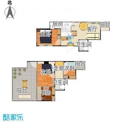 顶层跃层两室一厅-20150430