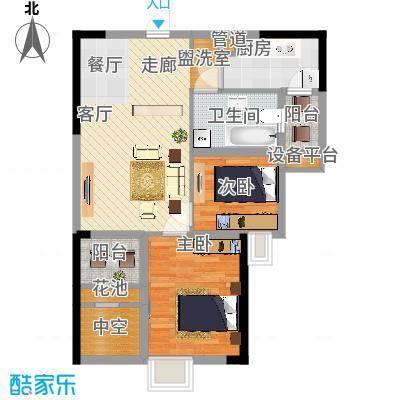 招商花园城74.00㎡A户型-副本