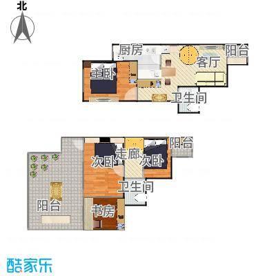 顶层跃层两室一厅-20150501