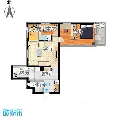 两室两厅-原图1的设计4