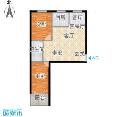 和平嘉园和平嘉园 户型图86㎡两室两厅一卫户型2室2厅1卫-副本