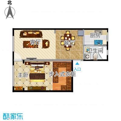 岭南小区61方一室两厅-副本