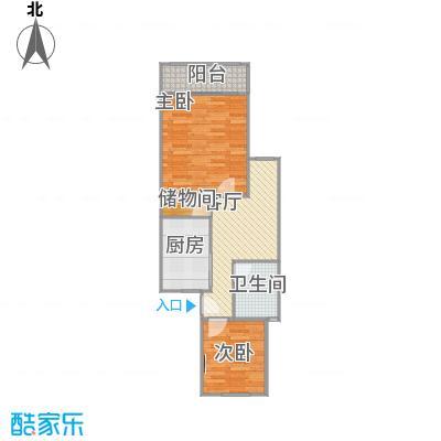 宝山-乾溪二村-58.9房型原图