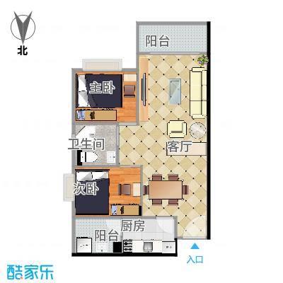 映翠豪庭70平的二房二厅-副本1