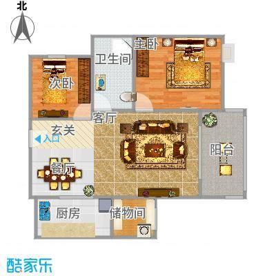 81平米2室2厅一厨-副本-副本