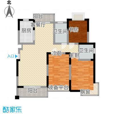 盛鑫金桥世家136.00㎡小高层C户型3室2厅2卫1厨