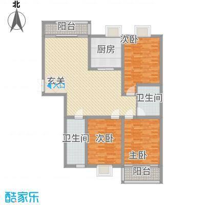 南方公寓146.00㎡A幢5和B幢3套型户型3室2厅2卫1厨