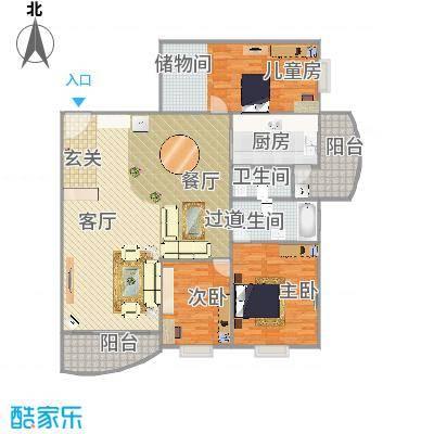 3房2厅2卫-标准图装修后