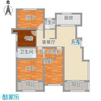 爱琴海151.00㎡一期高层D1户型3室2厅2卫1厨