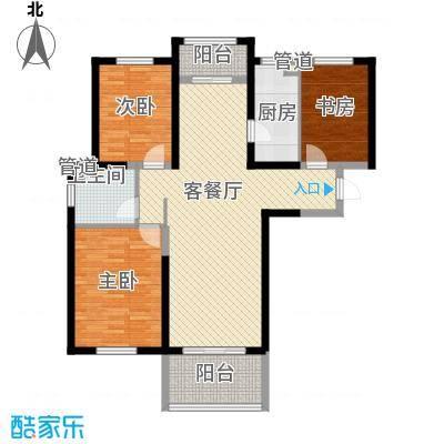 诚德盛世原著128.00㎡一期高层A2-02户型3室2厅1卫1厨