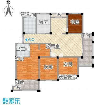 长宏水岸名城151.00㎡C户型4室2厅2卫1厨