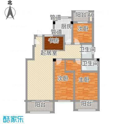 天瑞绿洲146.70㎡一期12#多层洋房C1户型4室2厅2卫1厨