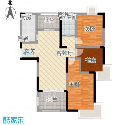 金茂国际S1#S5#楼A1户型3室2厅1卫1厨