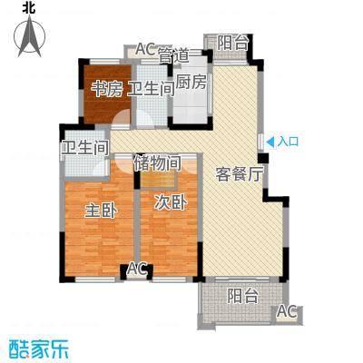 滨江丽都桥语143.17㎡47#楼F户型3室2厅2卫1厨