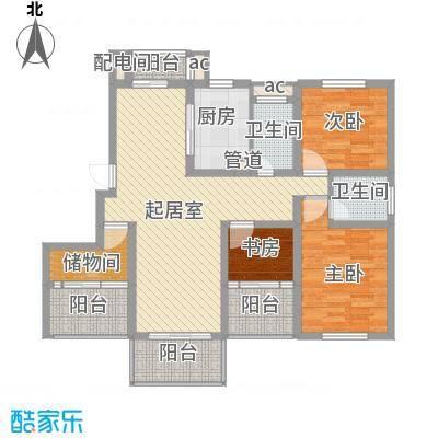 名都豪庭133.80㎡5#、7#楼标准层0户型3室2厅2卫1厨