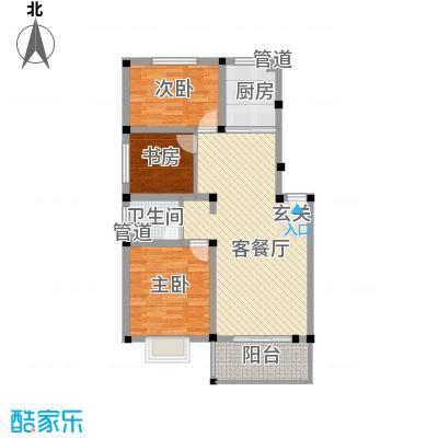金达华府13.71㎡二期多层D户型3室2厅1卫1厨