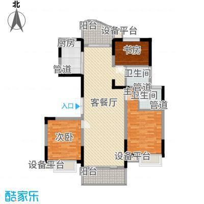 江海皇都138.87㎡F4型户型3室2厅2卫1厨