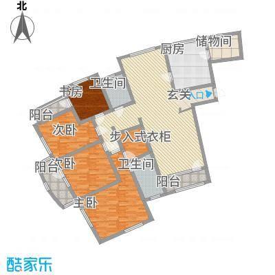晏园玖珑城215.00㎡户型
