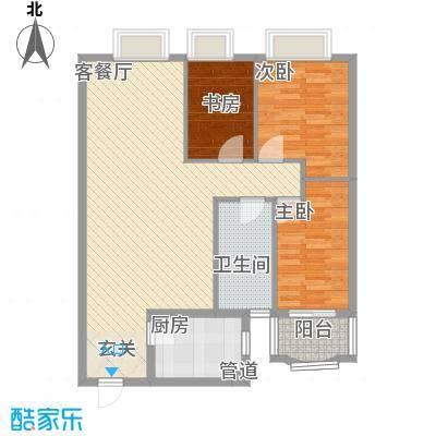 新浪屿花园112.51㎡户型3室2厅1卫1厨