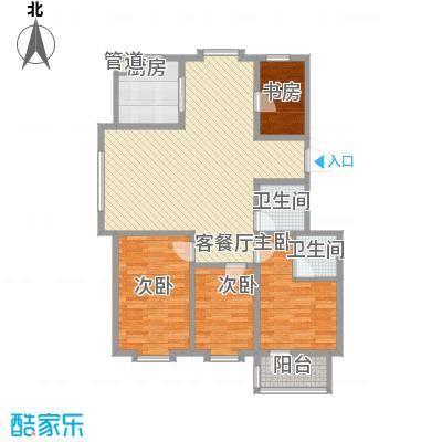 贵和花园127.00㎡小高层户型3室2厅2卫1厨