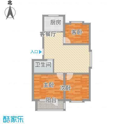贵和花园82.00㎡多层户型3室2厅1卫1厨