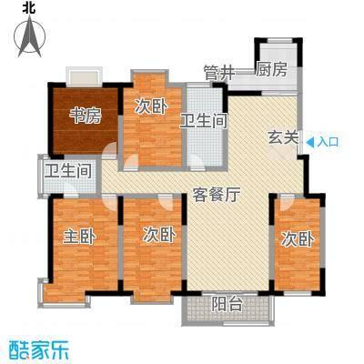 翠竹园218.00㎡d_d户型5室2厅2卫1厨