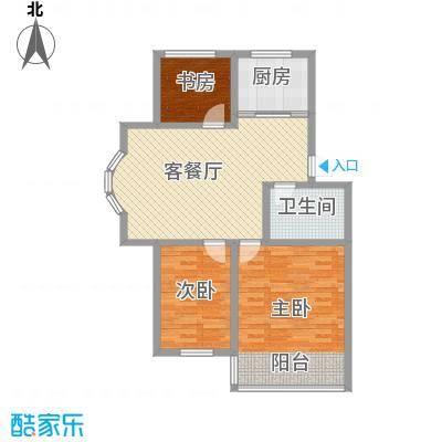 环翠家园15.00㎡户型3室2厅1卫1厨