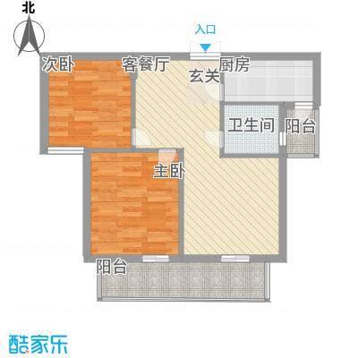 尚书房77.58㎡电梯房20号楼D2户型2室2厅1卫1厨