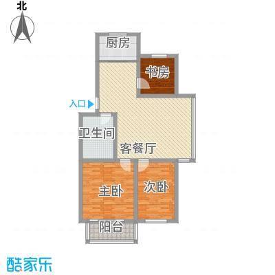 环翠家园17.00㎡户型3室2厅1卫1厨