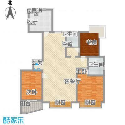 悦海花园18.10㎡户型3室2厅2卫1厨