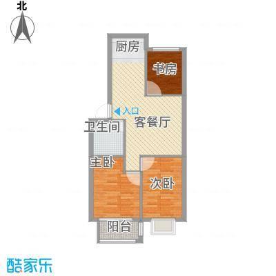 隆苑丽舍78.00㎡户型3室2厅1卫1厨