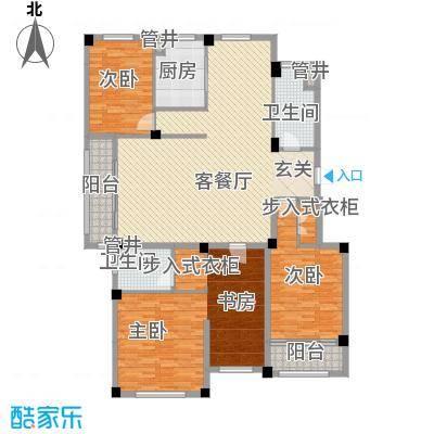 国际海景城户型5室2厅2卫1厨