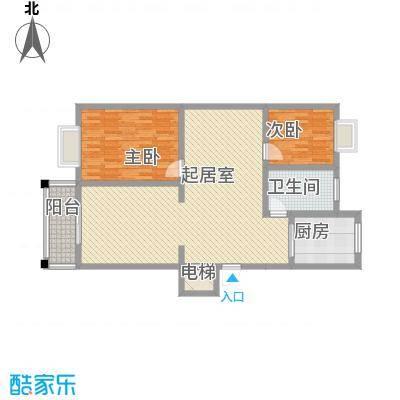 米兰阳光17.56㎡15#楼户型2室2厅1卫1厨
