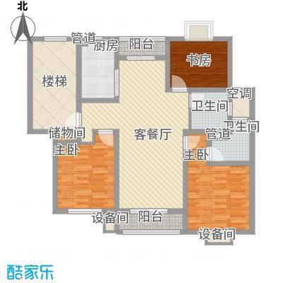 正棋山1号16.10㎡二期多层D-D户型3室2厅2卫1厨