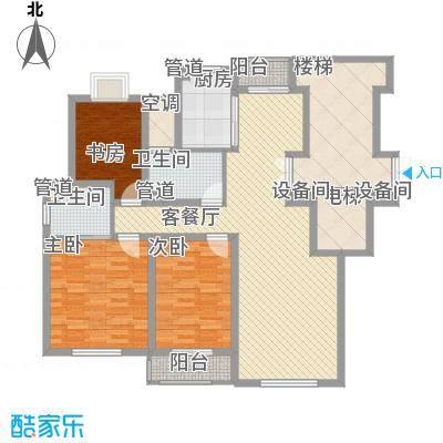 正棋山1号14.00㎡二期小高层A0309户型2室2厅2卫1厨