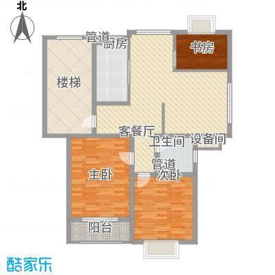 正棋山1号11.00㎡二期多层三居室户型3室1厅1卫1厨