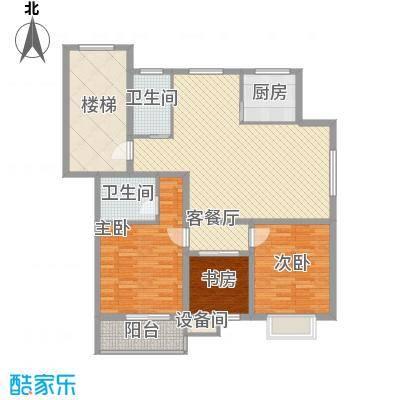正棋山1号11.10㎡一期C户型3室2厅2卫1厨