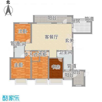 华发九龙湾中心17.00㎡G户型4室2厅2卫1厨