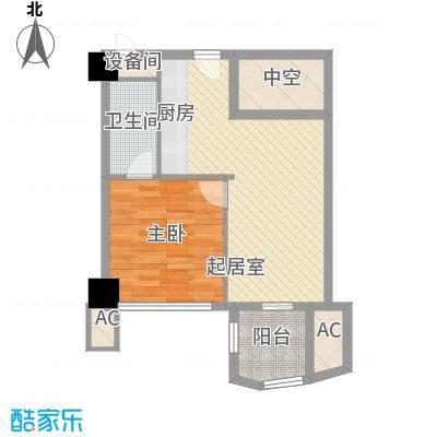 广信百度城5.53㎡户型1室1厅1卫1厨