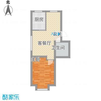 杨家滩花园57.00㎡户型1室1厅1卫1厨