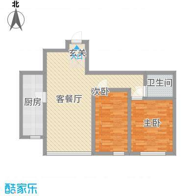 杨家滩花园85.17㎡户型2室2厅1卫1厨