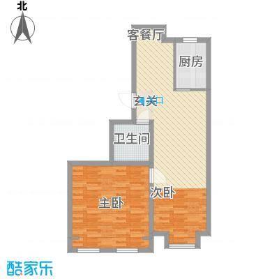 杨家滩花园85.00㎡户型2室2厅1卫1厨