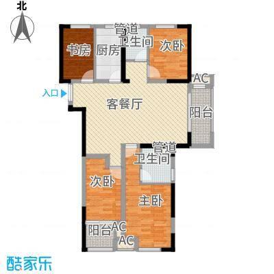 民生・瞰江郡123.00㎡5号楼C2户型4室2厅2卫
