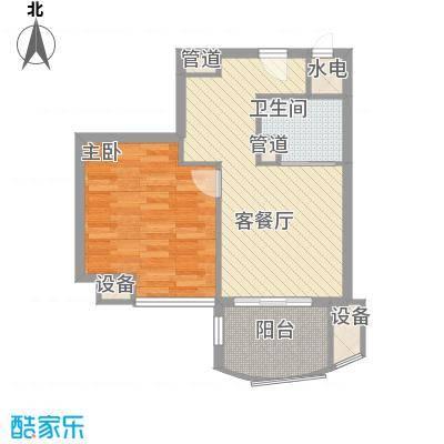 广信百度城58.25㎡户型1室1厅1卫1厨