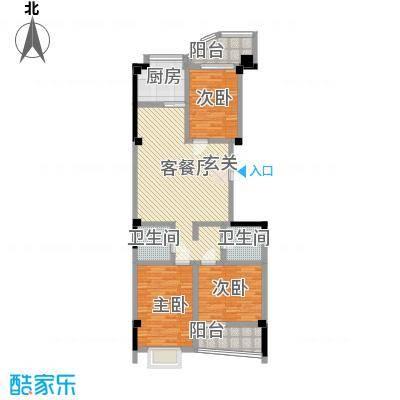 蓝天广场122.00㎡户型3室2厅2卫1厨