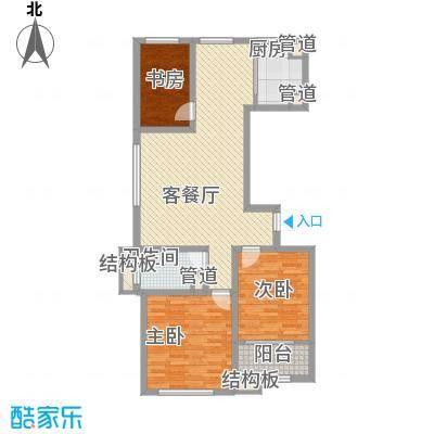 和谐家园115.38㎡整体开发高层C5号楼户型3室2厅1卫1厨