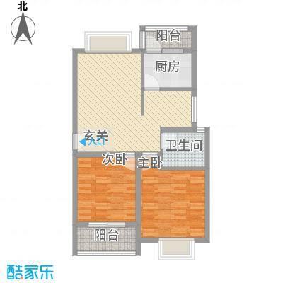 健康花园84.10㎡户型2室2厅1卫