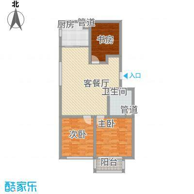 和谐家园115.54㎡整体开发高层c3号楼户型3室1厅1卫1厨